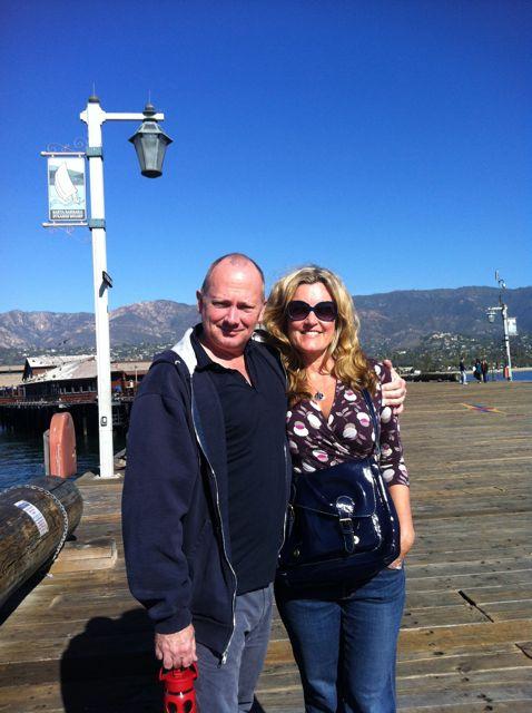Henry and I on the Santa Barbara Pier