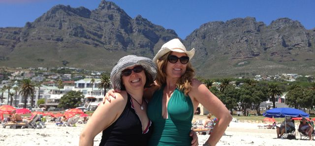 Jenna and I at the most beautiful beach in the world, Camps Bay.