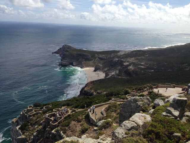 The View from Cape Point where the Indian Ocean and the Atlantic Ocean meet.