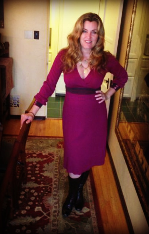 Dress #30 - it's been blustery and cold in LA so this Boden number worked very well with a pair of boots.