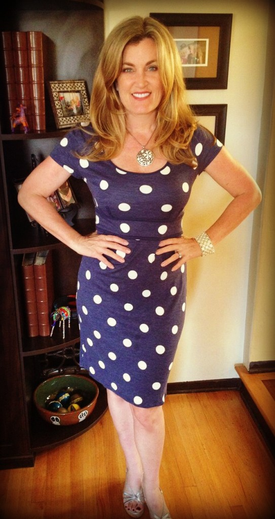 I love polka dots and I don't know why. They make me happy. Perhaps it's because I'm dotty?