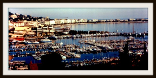 This is the harbor in Cannes.  My view from my hotel suite.