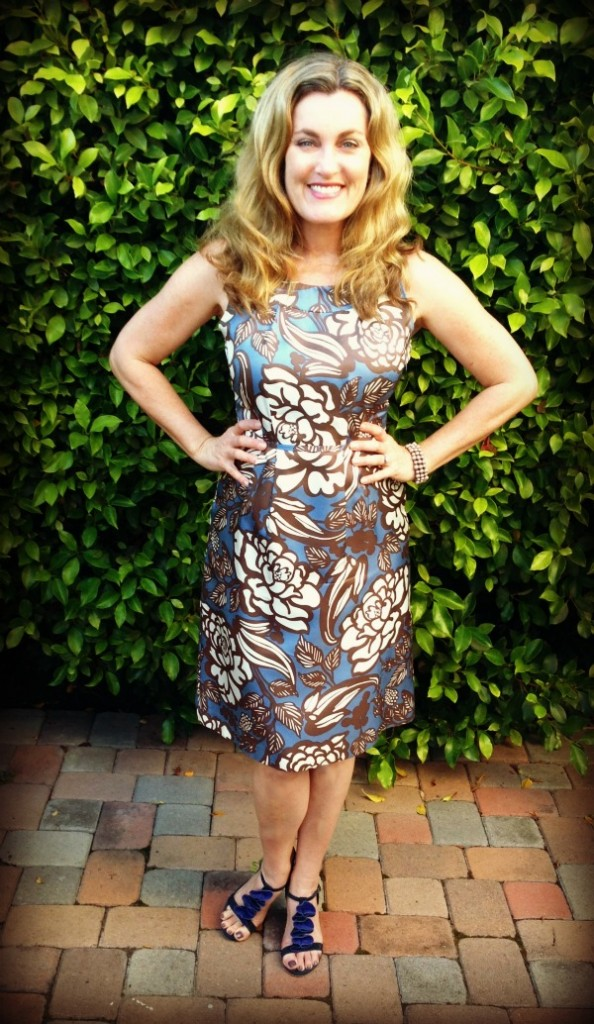 Dress #57.  I wore this dress to perform in at the Expressing Motherhood show and received a lot of compliments.  Having said that I won't be having any more outdoor photos taken as my head seems to get very large outside.
