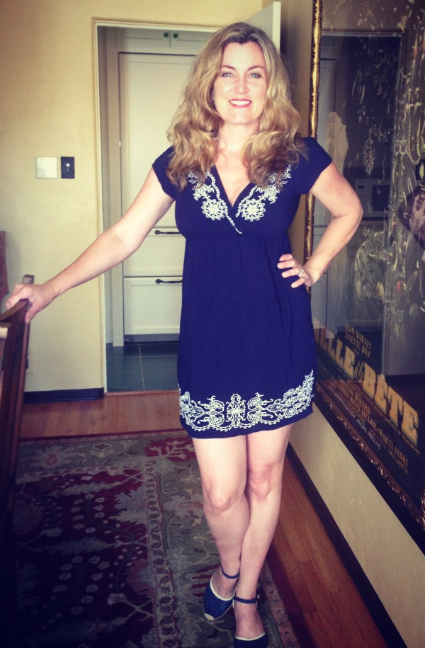 Dress #61.  I bought this as a bathing suit cover-up at El Capitan last summer.  It's wise not to bend over in this one.