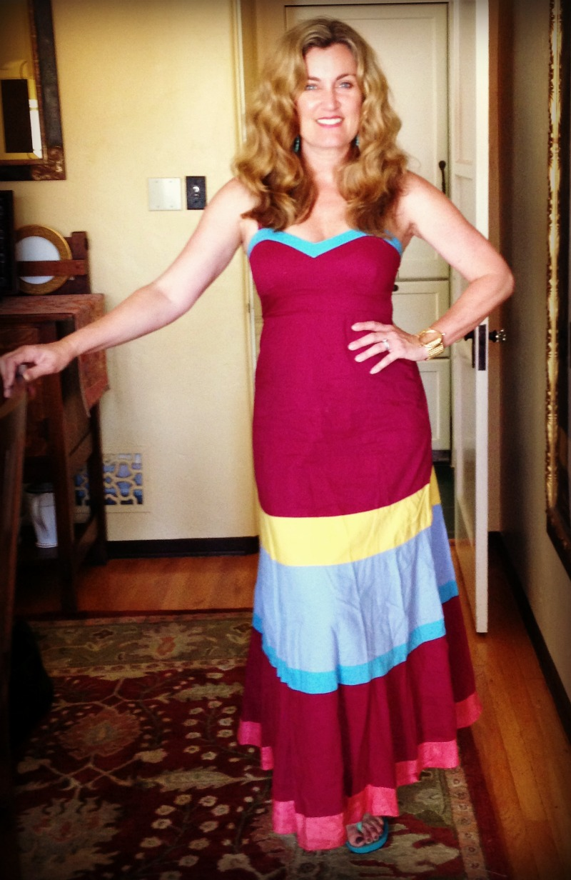 Dress #68. An Anthropologie maxi on sale for 50$.