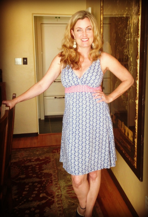 Dress #59.  This Boden summer dress is super comfortable.  But after eating linguini I wonder if it makes me look pregnant.