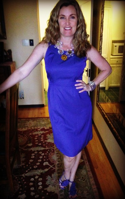 Dress #44. Another Boden. You may notice I have another very similar purple Boden dress. I suppose two Bodens are better than one? If you're an addict. (cue drool coming out of the side of my mouth and a facial tic)