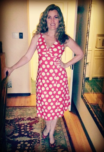 Dress #45.  Their is a polka dot leitmotif wending its way through my life.  Is there an age cut off for polka dots??
