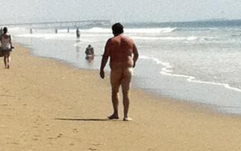 The Naked Man On The Beach