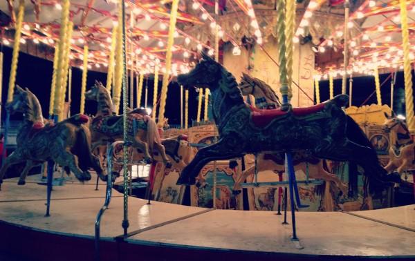 The carousel at the Place de la Concorde.