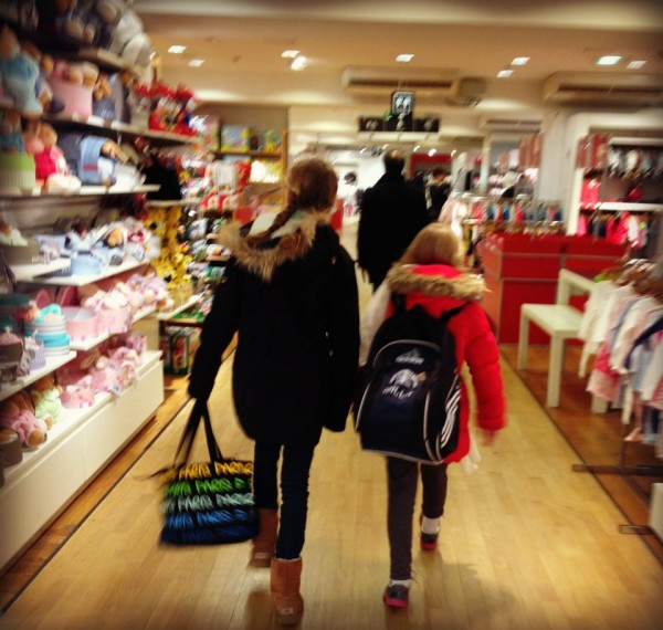 Shannon Bradley Colleary, traveling with kids in Paris, Le Gallerie LaFayette
