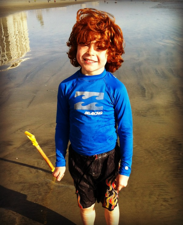 Ari on the beach