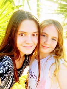 These are two young girls I love. I love their beautiful eyes, their Mona Lisa smiles, their long, soft hair and oh the freckles are enough to make me swoon.
