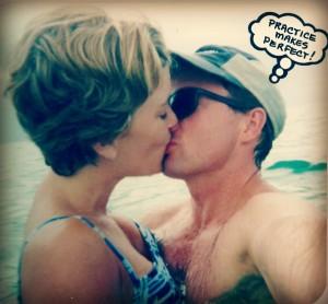 Michael Kissing Me in the ocean pic