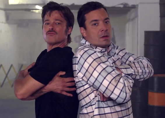 Brad Pitt Jimmy Fallon break dancing