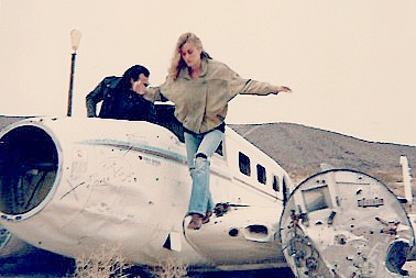 Fleeing the scene at Fran's Ranch, inexplicable home of a downed Cessna. Perhaps an arriving Congressman's ride?