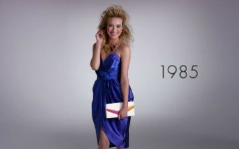 100 Years of Women's Fashion in 2 Minutes! (Video)