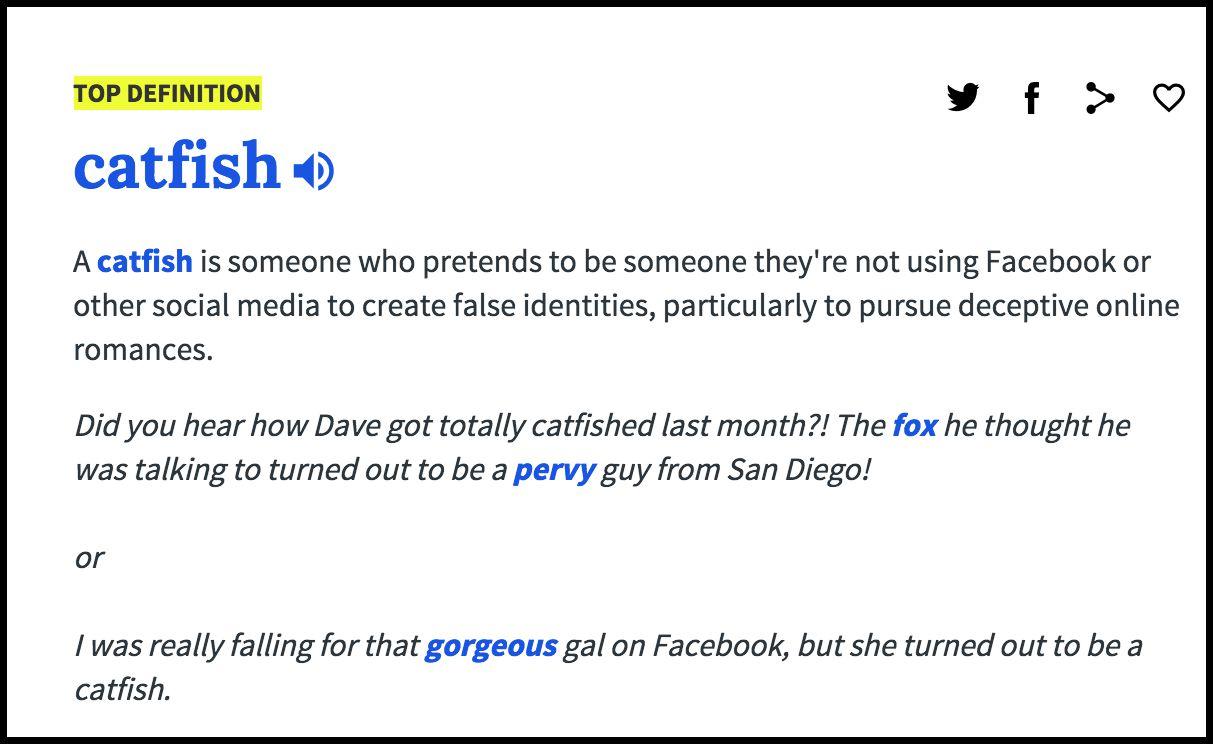 Catfish dating definition