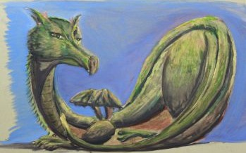 "A Gunman Spitting Lead Made Artist Ruthie Briggs-Greenberg Create a Dragon That Couldn't Spit Fire. Meet ""Felicity The Dragon"""